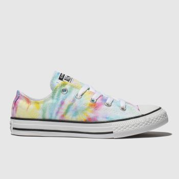 Converse Yellow & Blue Chuck Taylor All Star Lo Girls Junior