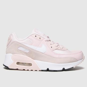 Nike pale pink air max 90 trainers junior
