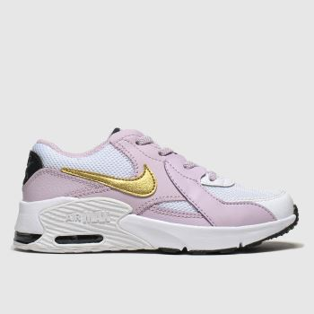 Nike White & Pink Air Max Excee Girls Junior