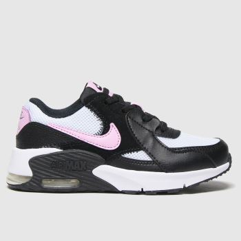 Nike Black & pink Air Max Excee Girls Junior