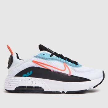 Nike White & Pl Blue Air Max 2090 Girls Junior