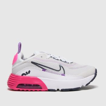 Nike White & Pink Air Max 2090 Girls Junior#