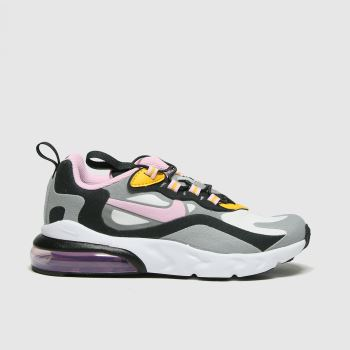Nike Light Grey Air Max 270 React Girls Junior