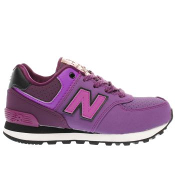 NEW BALANCE PURPLE 574 GIRLS JUNIOR TRAINERS