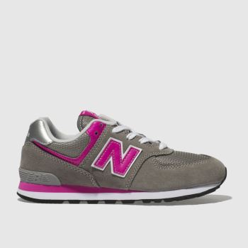New Balance Dark Grey 574 Girls Junior