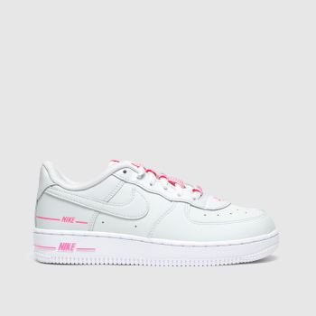 Nike Light Grey Air Force 1 Lv8 3 Girls Junior