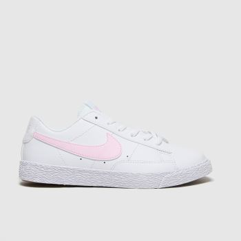 Nike White & Pink Blazer Low Girls Junior