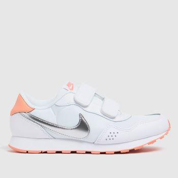 Nike White & Silver Md Valiant Girls Junior