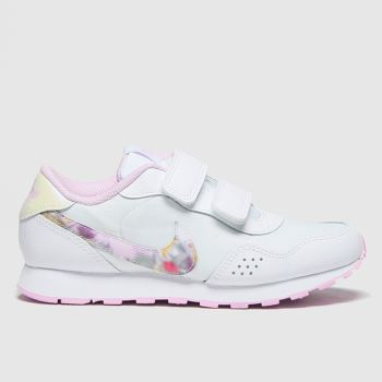 Nike White & Pink Md Valiant Girls Junior#