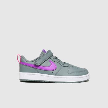 Nike Dark Grey Court Borough Low 2 Girls Junior