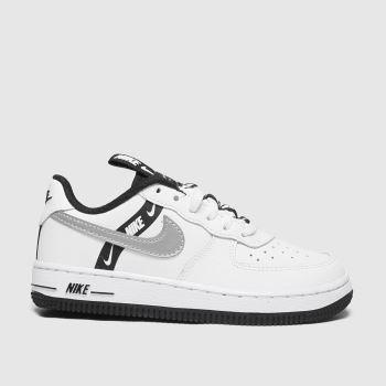 Nike White & Silver Air Force 1 Lv8 Ksa Girls Junior#