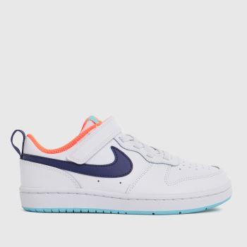 Nike White & Purple Court Borough Low 2 Girls Junior