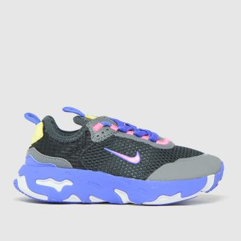 Nike Black and blue React Live Girls Junior