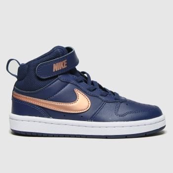 Nike Navy Court Borough Mid 2 Girls Junior