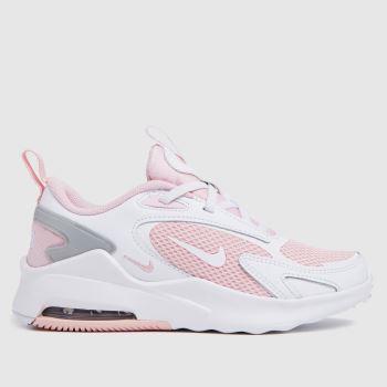 Nike White & Pink Air Max Bolt Girls Junior