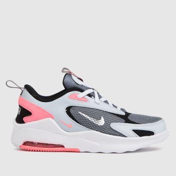 Nike light grey air max bolt trainers junior