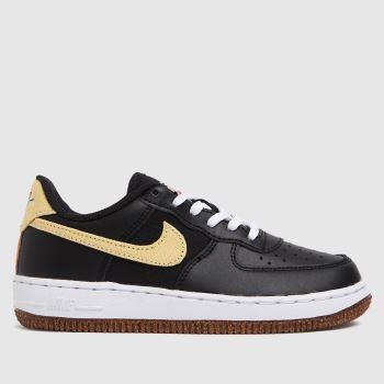 Nike Black & Brown Air Force 1 Lv8 Girls Junior