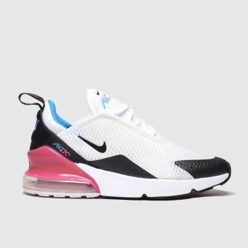 Nike White & Black Air Max 270 Girls Junior