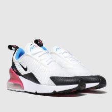 timeless design 8d043 3aad6 nike white & black air max 270 trainers junior