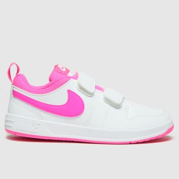 Nike White & Pink Pico 5 Girls Junior