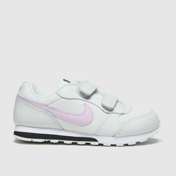 Nike White & Pink Md Runner 2 Girls Junior