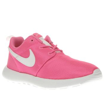 best service 39b02 4e855 NIKE PINK ROSHE ONE TRAINERS JUNIOR