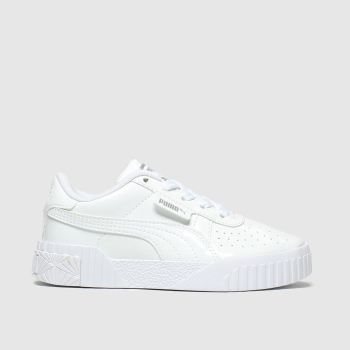 Puma White Cali Girls Junior
