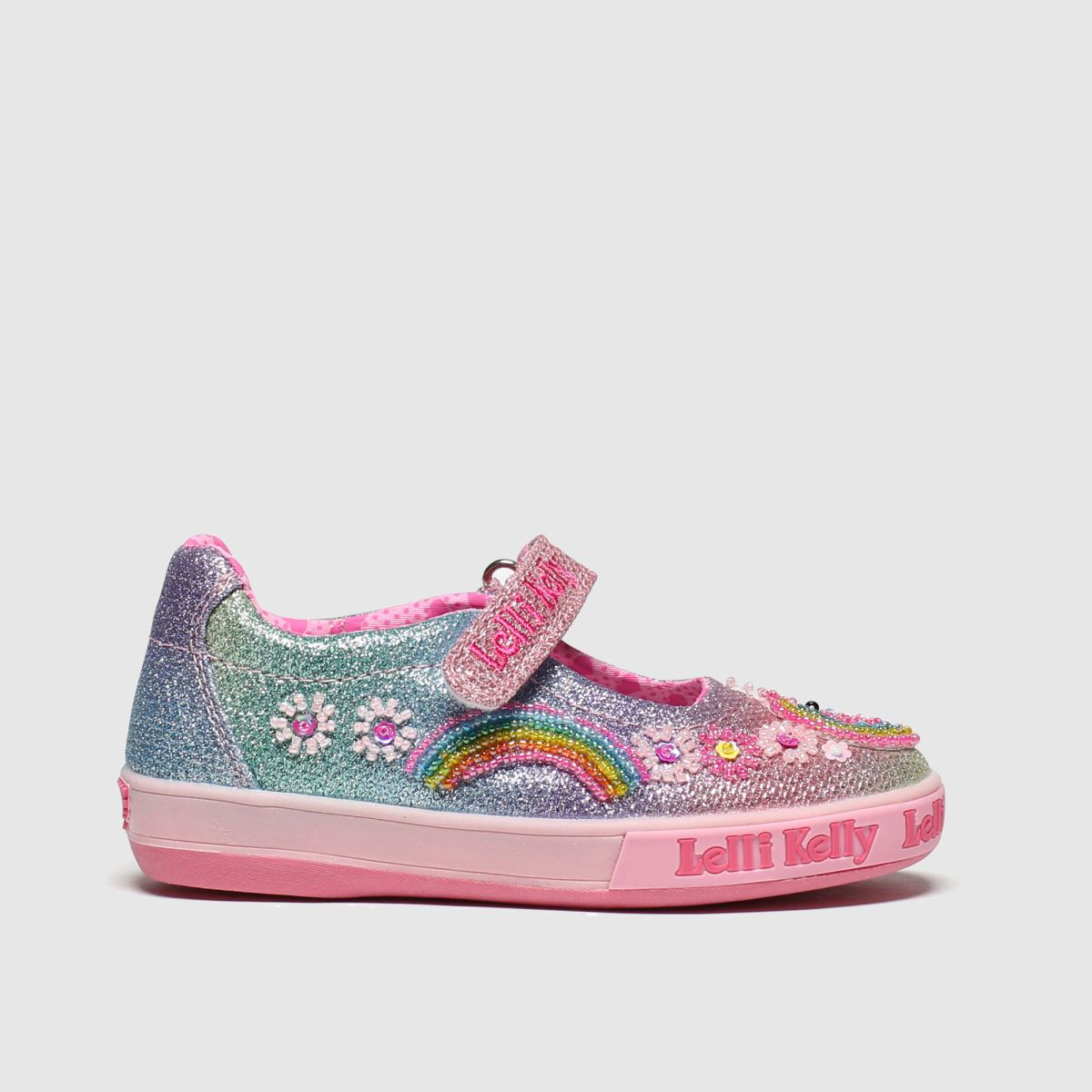 Lelli Kelly Multi Rainbow Unicorn Dolly Trainers Junior