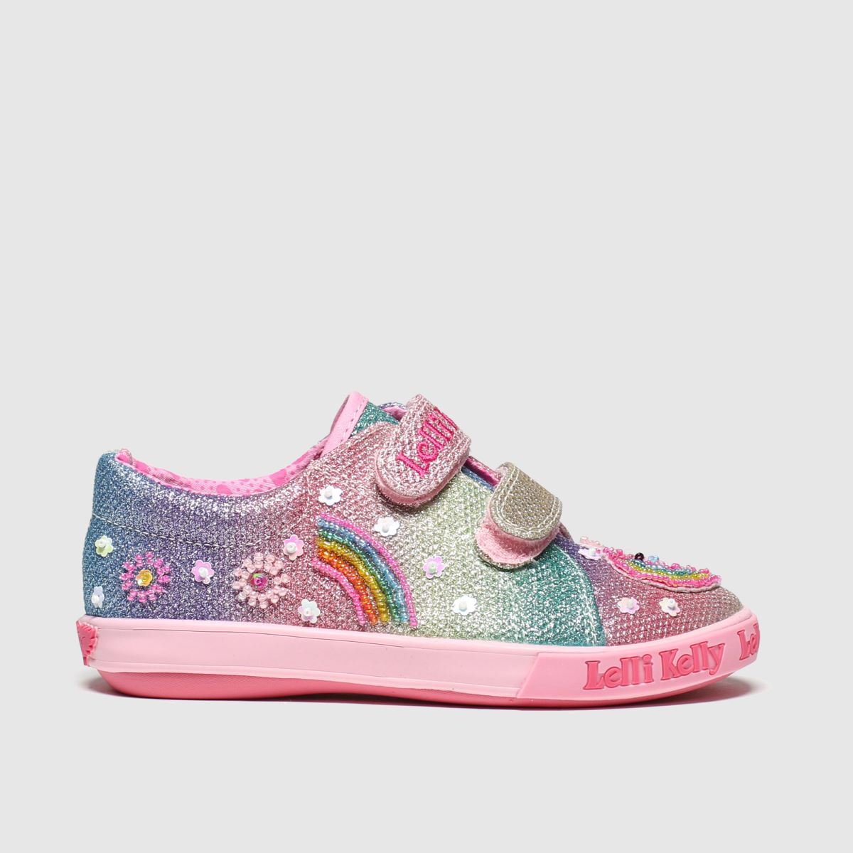 Lelli Kelly Multi Rainbow Unicorn Strap Trainers Junior