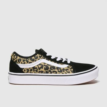 Vans Black & Brown Comfycush Old Skool Girls Junior