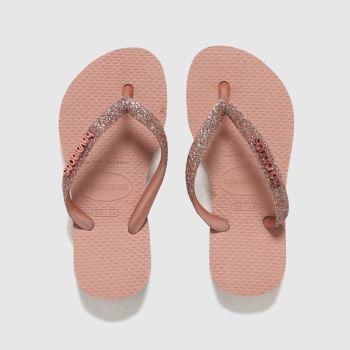 Havaianas Pale Pink Slim Glitter Ii Girls Junior