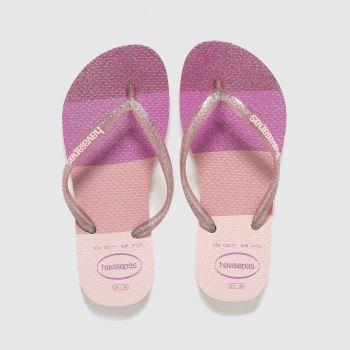 Havaianas Purple Slim Palette Glow Girls Junior