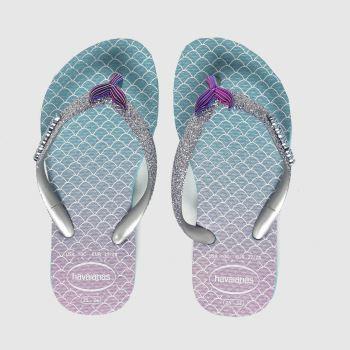 Havaianas Blue Slim Glitter Ii Girls Junior
