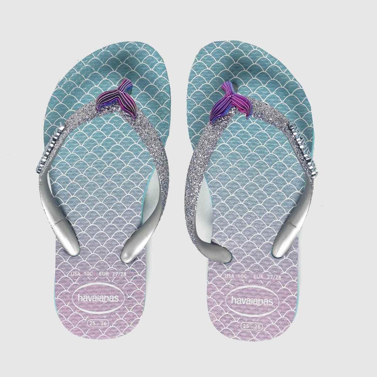 Havaianas Blue Slim Glitter Ii SANDAL Junior