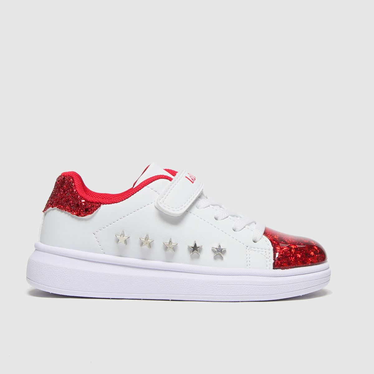 Lelli Kelly White & Red Helene Trainers Junior