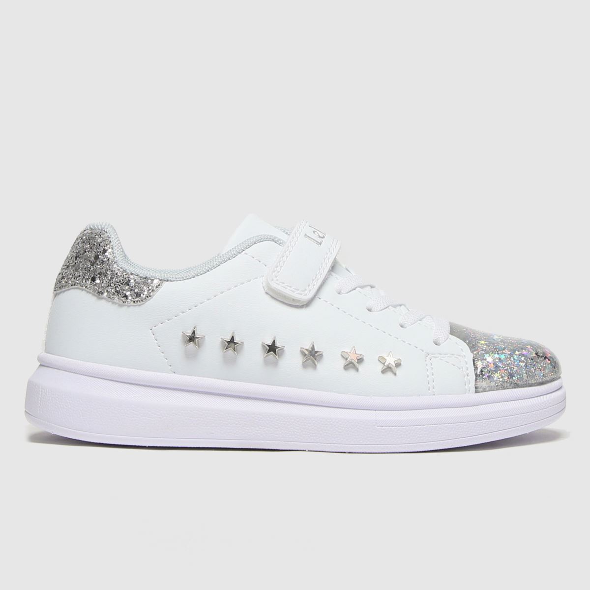 Lelli Kelly White & Silver Helene Trainers Junior