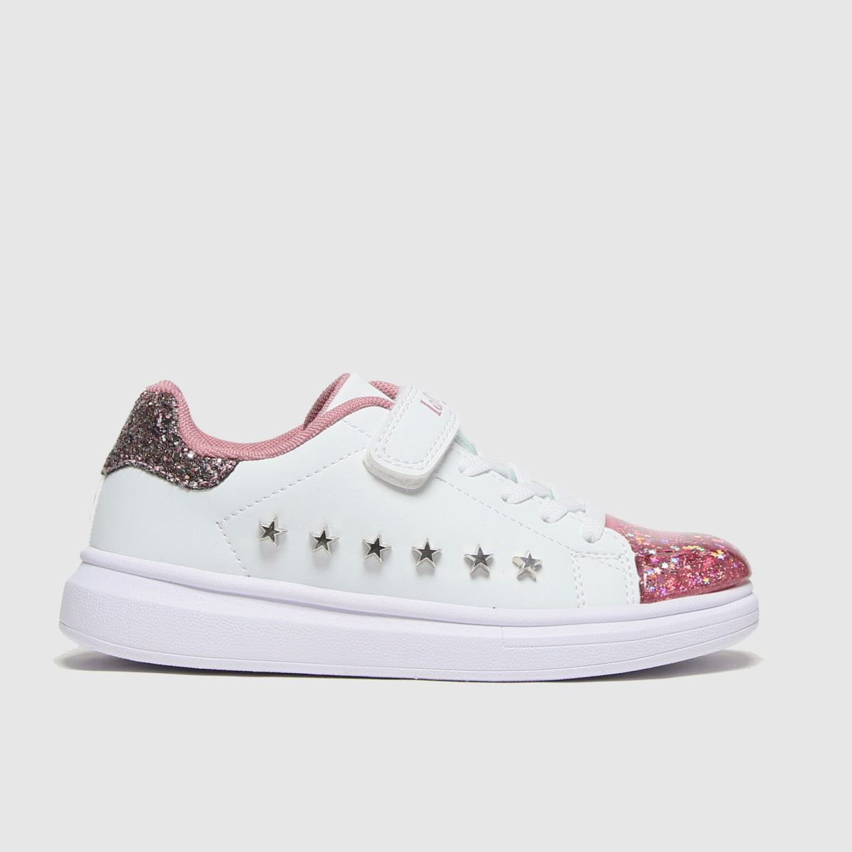 Lelli Kelly White & Pink Lk Helene Trainers Junior