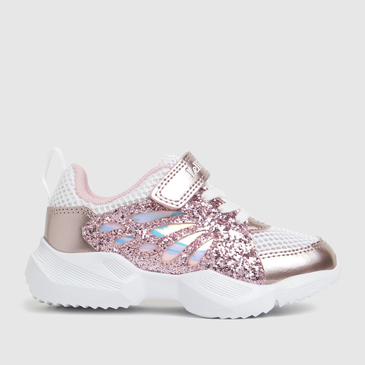 Lelli Kelly White & Pink Callie Trainers Junior