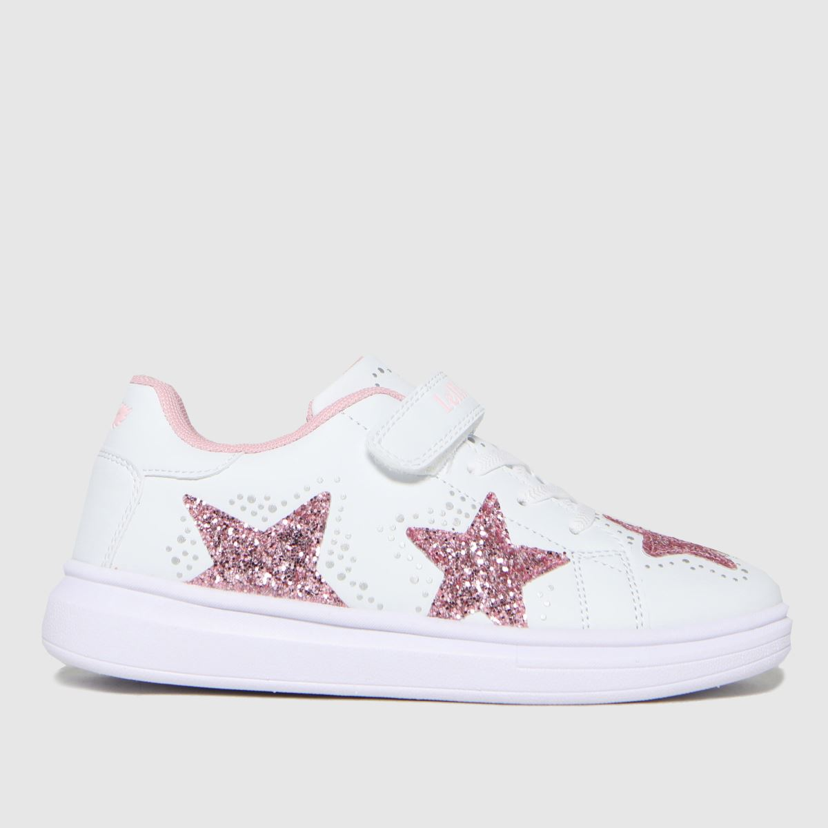 Lelli Kelly White & Pink Glimmer Trainers Junior
