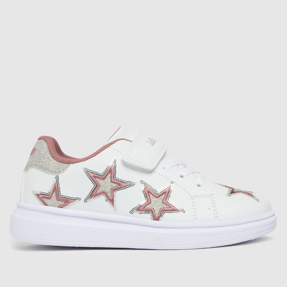 Lelli Kelly White & Pink Susan Trainers Junior