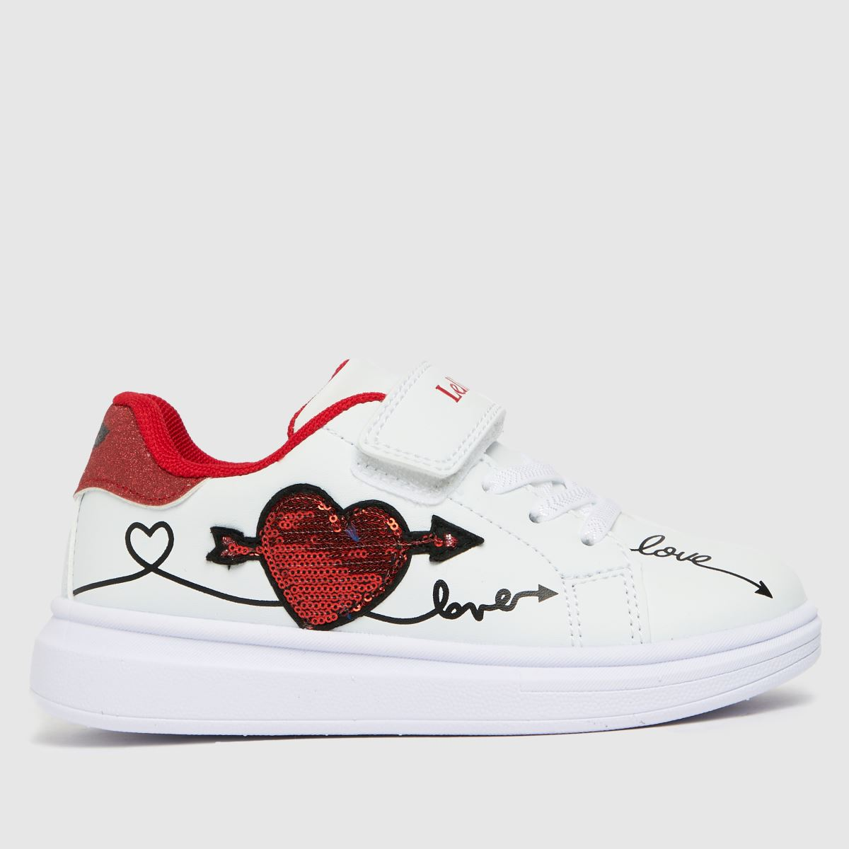 Lelli Kelly White & Red Clelia Trainers Junior