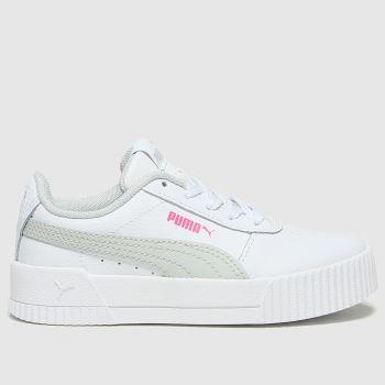 PUMA White & grey Carina L Girls Junior#