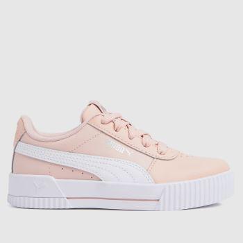 PUMA Pale Pink Carina L Girls Junior