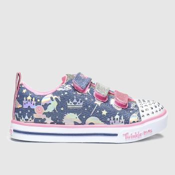 Skechers Blue Sparkle Lite Sparkle Girls Junior