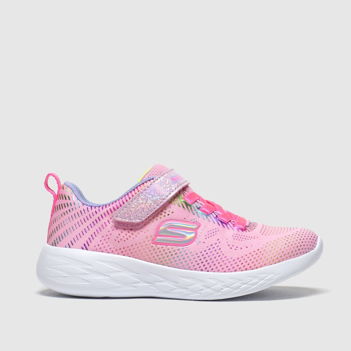 Skechers Pale Pink Go Run 600 Trainers Junior