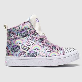 Skechers Multi Twi-lites Unicorn Girls Junior