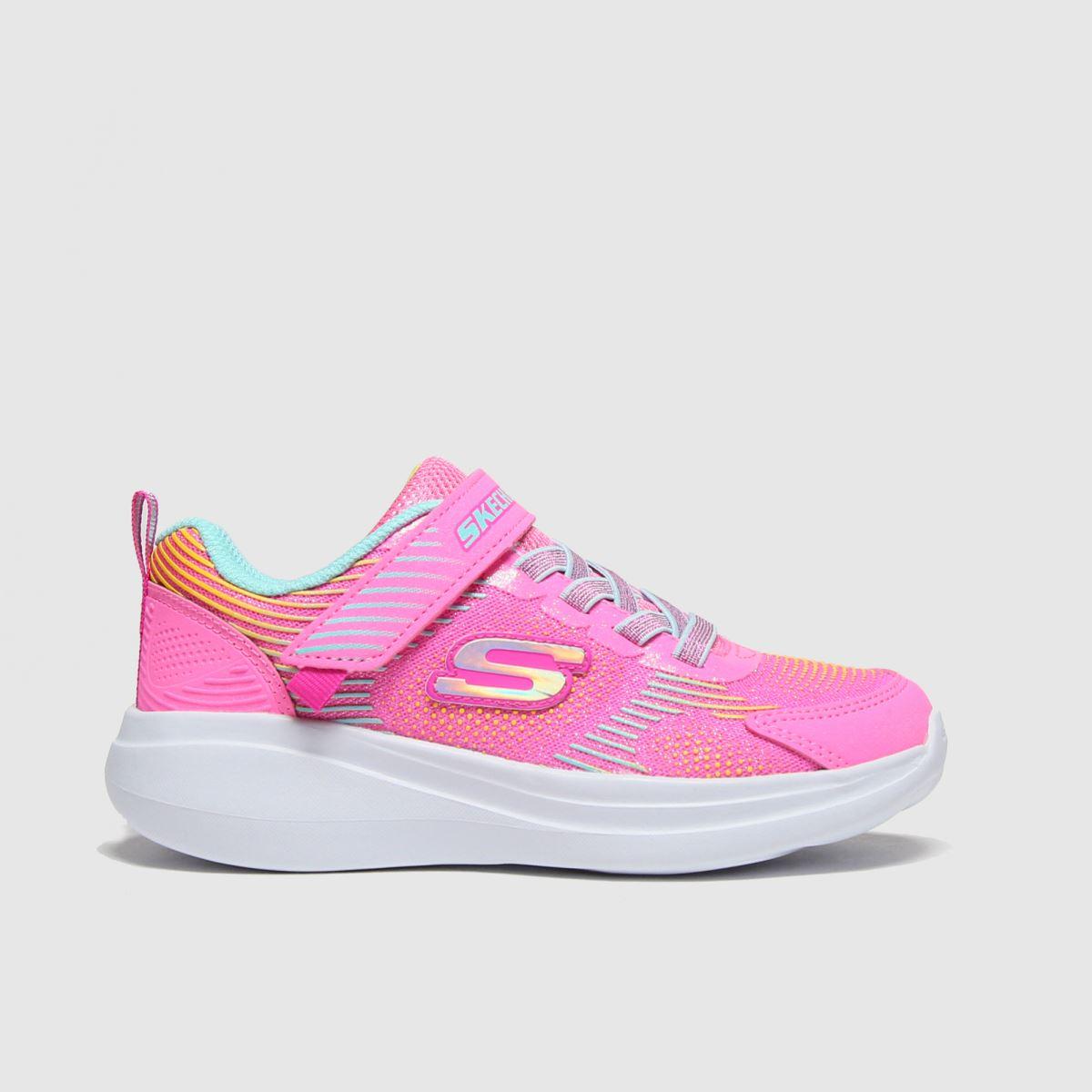 SKECHERS Pink Go Run Neon Jams Trainers Junior