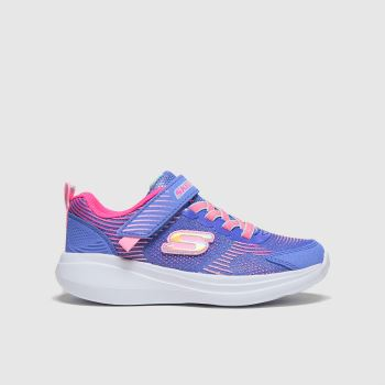 SKECHERS Blue Go Run Neon Jams Girls Junior