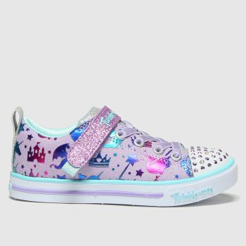 SKECHERS Pink Sparkle Princess Girls Junior