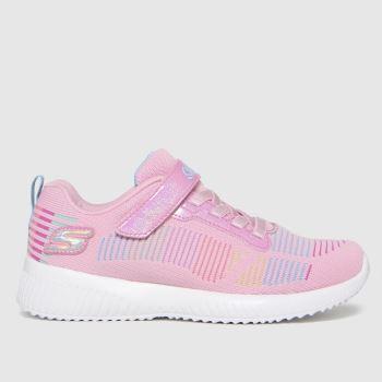 SKECHERS Pale Pink Bobs Squad Girls Junior